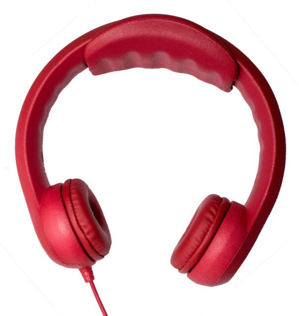 Bitmore Ed Foam Children Over-ear Headphones Red, Sound Limiter, UK seller