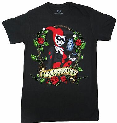 DC Comics Harley Quinn Tattoo Adult T-Shirt - Superhero Batman Suicide Squad Tee - Harley Quinn Tattoo