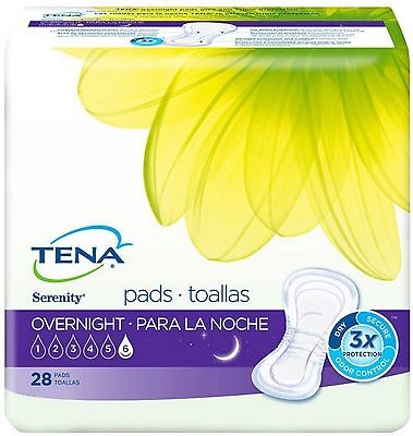 Tena Incontinence Pads For Women, Overnight 28 Ea