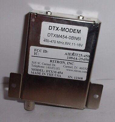 Ritron Dtx Modem Dtxm454 0bn6i 450-470 Mhz 6 Watt 11-16 Volt