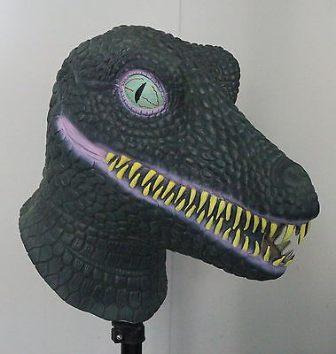 Latex RAPTOR Tyrannosaurus Rex Dinosaur Mask T Rex Fancy Dress Halloween A