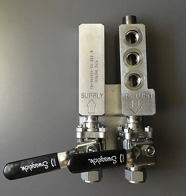 SWAGELOK Return and Supply Double Ball Valve Apparatus