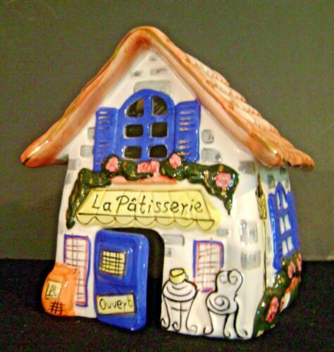 """Cozy Cottage Porcelain """"Patisserie Candle Tea Light French Bakery W/O Underplate"""
