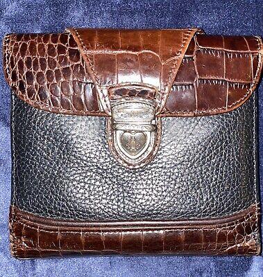 brighton black brown Heart push lock wallet Push Lock Wallet