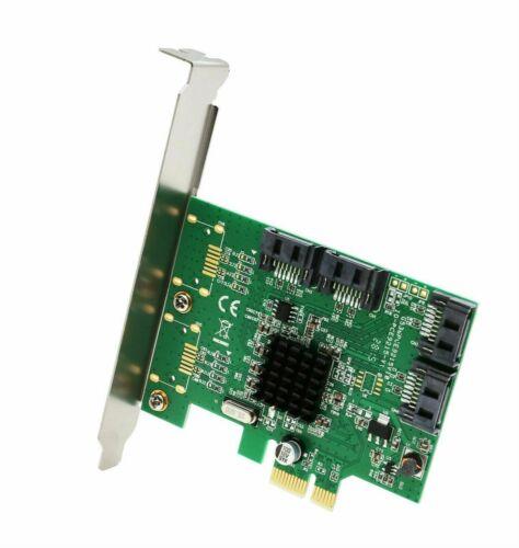 4 SATA III 6Gbps Port PCI-e x1 NON-RAID Controller Card Marvell 9215 Chipset