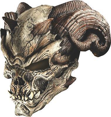 Cave Demon Horned Ram Skull Adult Mask - Cave Demon Mask