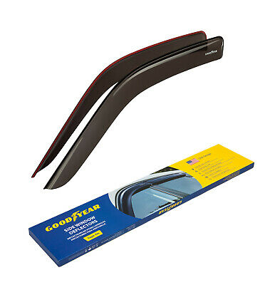 Goodyear Window Deflectors Rain Guards for Chevy Express Van 1996-2020, Tape-on