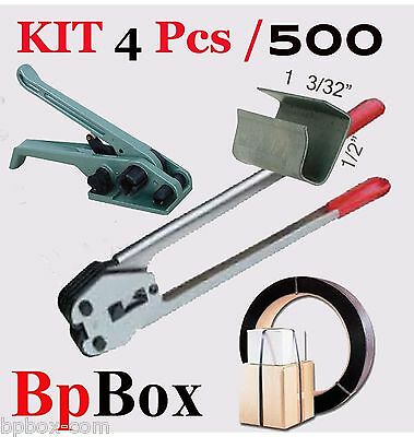 Tensioner And Cutter 12 To 58  Strapping Poly Crimper 500 Seal Kit4 Pcs