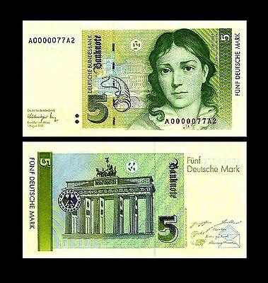 * * * 5 Deutsche Mark Geldschein 1991 Alte deutsche Währung * * *