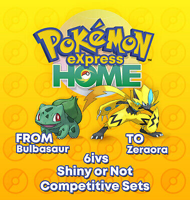 Pokemon Home Express Full Pokedex GEN1-7 6Ivs Shiny Competitive(950)Living Dex