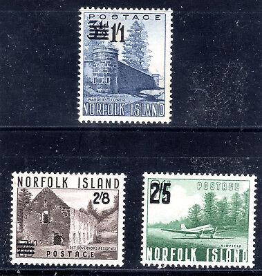 Norfolk Islands- set of 3 overprints SG37-9  mmint  [N12810]