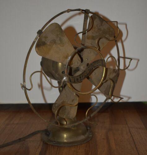 RARE Antique Vintage Westinghouse 98926 B 4-Blade ALL Brass DESK Fan