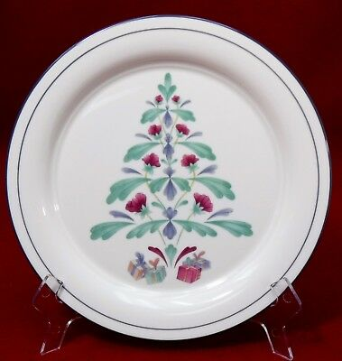 LENOX china POPPIES ON BLUE pattern CHRISTMAS ACCENT Salad PLATE 8-1/4