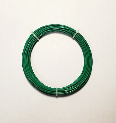20 Awg Mil-spec Wire Ptfe Green Stranded Silver Plated 25 Ft