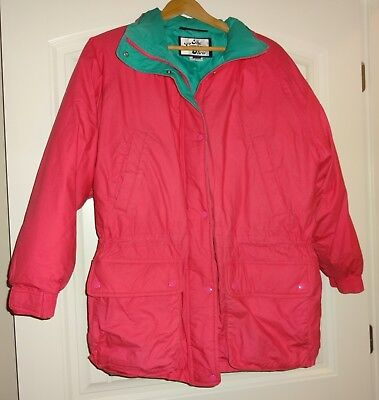 The Company Store Women's Ladies Size L Pink Goose Down Jacket With Hood (The Pink Ladies Jackets)