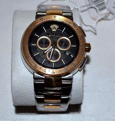 VERSACE  VFG100014 MYSTIQUE SPORT TWO TONE STAINLESS STEEL WATCH RETAIL $2195.00