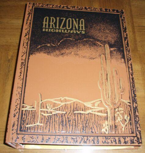 1952 ARIZONA HIGHWAYS LOT OF 12 IN DESERT SCENE BINDER - COMPLETE YEAR - JAN-DEC