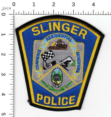SLINGER WISCONSIN POLICE SHOULDER PATCH WI