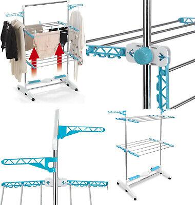 Tendedero Electrico regulable con Flujo Aire,12 barras aluminio,24W,soporta 15kg