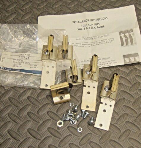 NEW Telemecanique D12F64 Fuse Clip Kit 100 200 Amp Switch 600 Volt 78105-10470