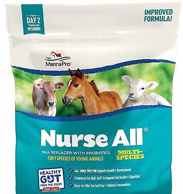 Manna Pro Nurseall Multi-species Milk Replacer 3.5 Lb. Calf Lamb Goat Llama