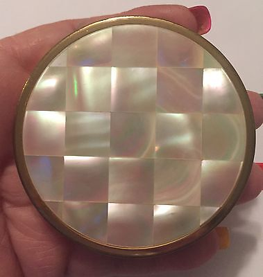 Vintage Mother Of Pearl Revlon Creme Puff Powder Compact