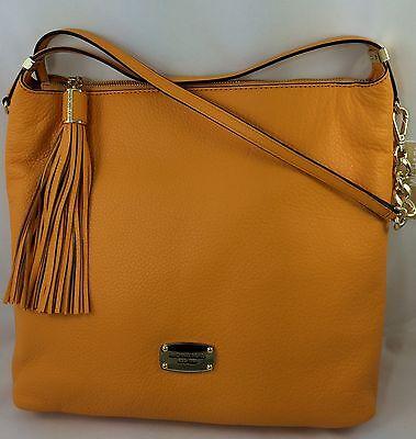 New Michael Kors MK Bedford Large TZ Tassel Shoulder Bag Purse Handbag Yellow