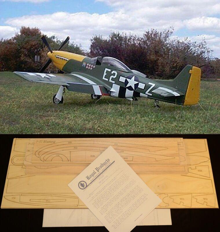 "64"" wingspan P-51D Mustang R/c Plane short kit/semi kit and plans"