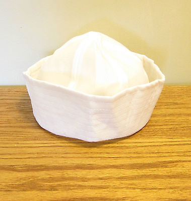 1 NEW WHITE NAVY SAILOR HAT POPEYE GILLIGAN DOUGHBOY ADULT COSTUME ACCESSORY