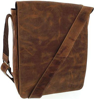 Fashion Boots FB Bags 846 Distressed Red Messenger Bag für Herren und Damen  ()