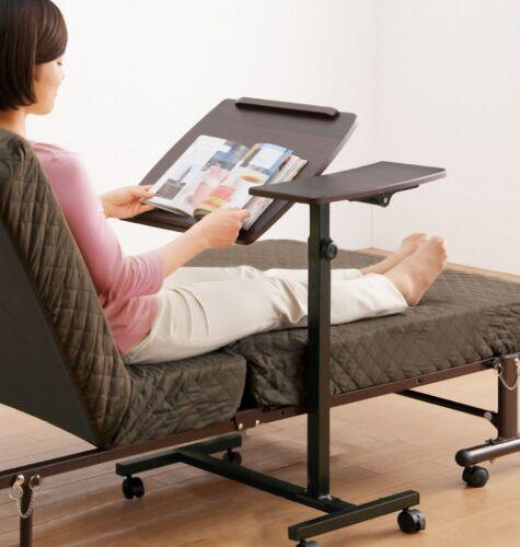 Laptop Folding Table Rolling Notebook Stand Sofa Bed Adjule Workstation Desk