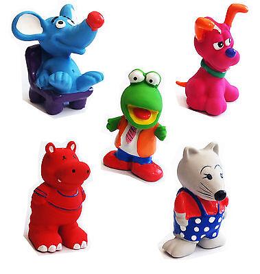 Hundespielzeug Latex Tierfiguren Quietscher Spielzeug Hund quietschend AUSWAHL