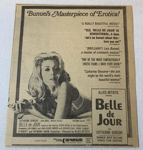 1968 newspaper ad ~ BELLE DE JOUR Catherine Deneuve, Luis Bunuel
