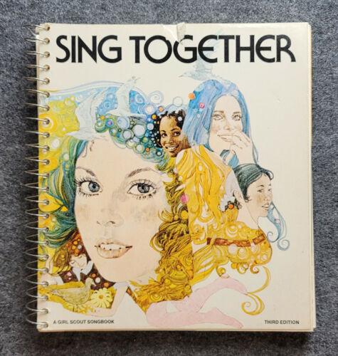 Vintage 1973 SING TOGETHER Girls Scout Songbook Spiral Bound