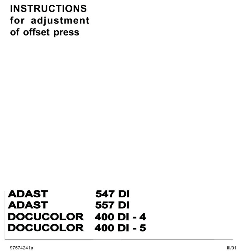 Adast Service Manual 547 DI 557 DI(pdf file)(072)