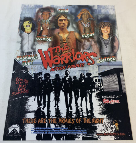 2005 Mezco ad page ~ THE WARRIORS cult movie action figures