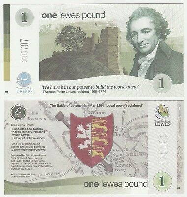 United Kingdom - Lewes 1 Pound 2014 UNC Local Currency Banknote