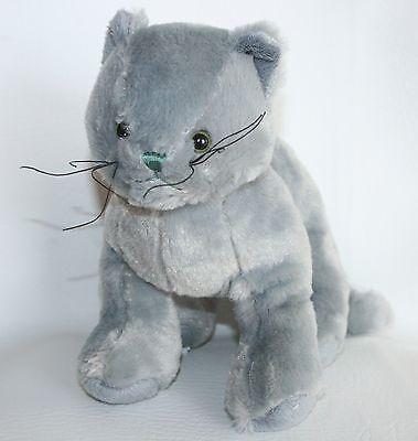 GANZ Webkinz  Plush CHARCOAL CAT Kitten Stuffed Toy Animal Lovey No Code