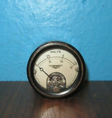 Jewell Electrical Panel Meter 0-150v Dc Volts 2.250 Sealed Free Shipping