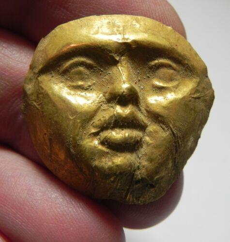 ZURQIEH - AS11732-  ANCIENT GREEK. GOLD APPLIQUE. FACE. 450 - 300 B.C