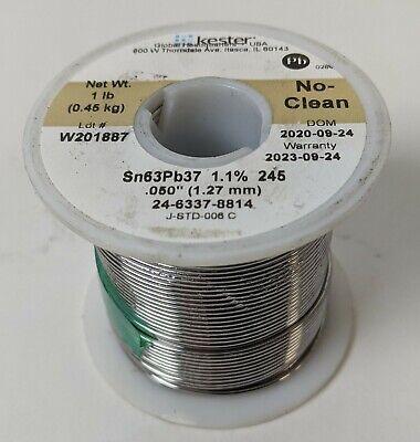 1lb Kester Solder .050 1.27mm 6337 No-clean 1.1245 Core Flux 24-6337-8814