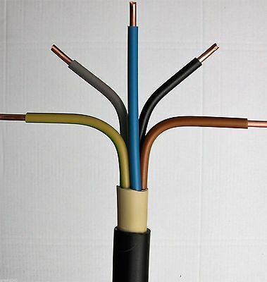 NYY-J 5x4 mm² 50m Meter Erdkabel Starkstromkabel Installationskabel Kupferkabel