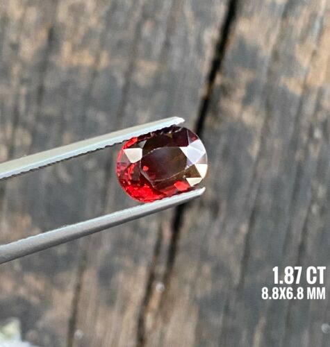 1.87  ct Beautiful Red Color oval shape Natural Untreated Red Spinel from Burma