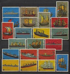 Nice-Lot-Centra-Ships-Serie-Vintage-Matchbox-Labels