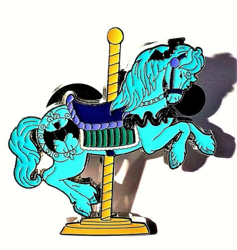 Disney Parks Haunted Mansion Kingdom Carousel Booster Horse Pin.