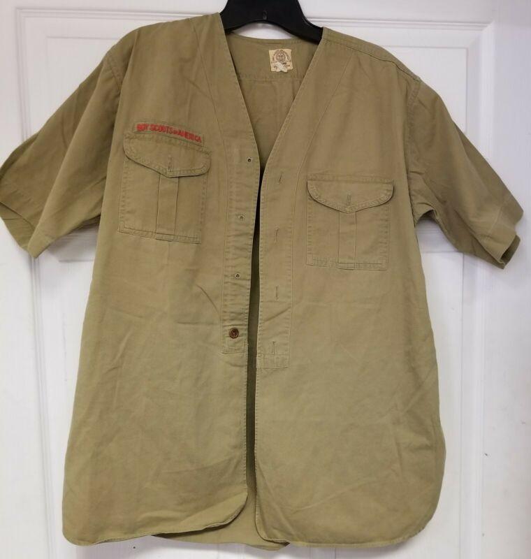 Vintage 30s 40s SWEET-ORR Boy Scouts BSA Official Uniform Shirt USA Mens Large