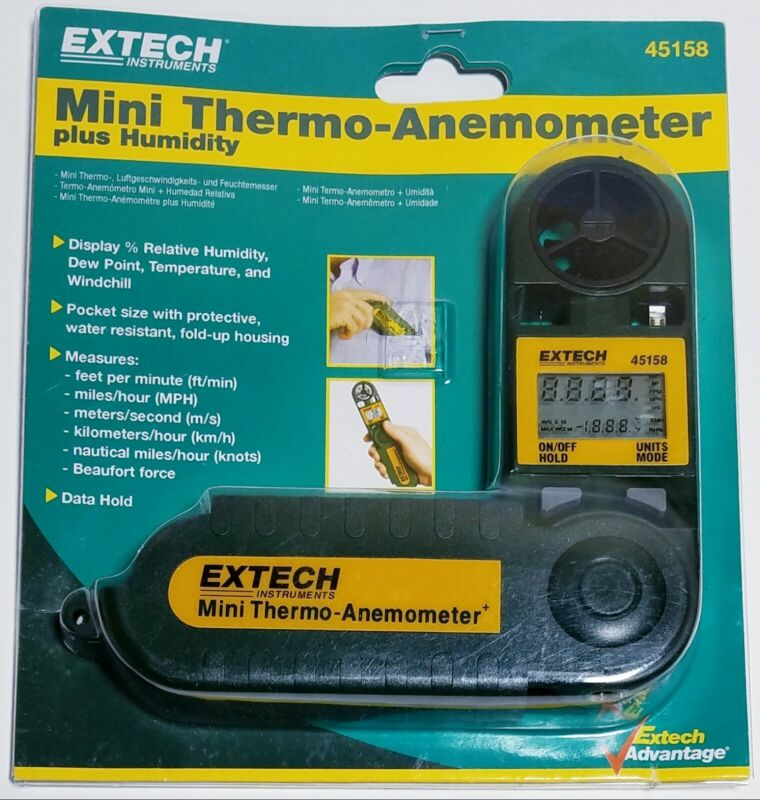 Extech 45158: Mini Thermo-Anemometer with Humidity