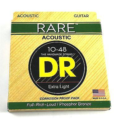 Rare Phosphor Bronze Acoustic Guitar - DR Guitar Strings  Acoustic RARE Phosphor Bronze Hex Cores RPL-10 10-48