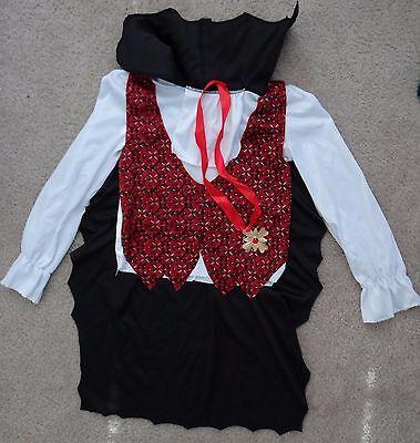 VAMPIRE dress up or Halloween 2pc costume:shirt w attached vest/cape+medal,boy M](Vampire Halloween Costumes Walmart)