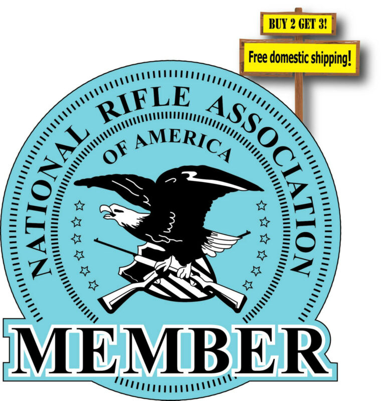 NRA National Rifle Association Member Decal/Sticker Die Cut Gun Right GN52